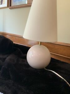 Kate Spade Pink Blush Small Ceramic Sphere Table Lamp with Shade