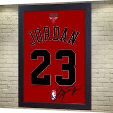 Michael Jordan Chicago Bulls signed autograph NBA Framed 100% COTTON Canvas 002