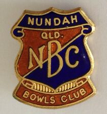 Nundah Queensland Bowling Club Badge Rare Vintage (L5)