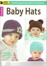 Baby Hats  ~ Crochet Book  ~ BRAND NEW ~ 10 Hats to Crochet