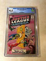 Justice League of America #2 CGC 4.5 FLASH AQUAMAN wonder woman 1960 KEY ISSUE