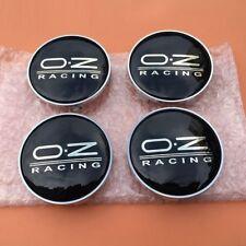 4 x OZ Racing 60mm Alloy Wheel Hub Centre Caps Cap , High Quality, Black Silver