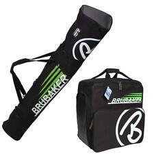 BRUBAKER Ski Bag Combo CHAMPION for Ski, Poles, Boots and Helmet - Black/Green