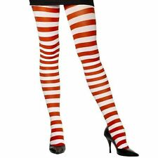 Ladies Sheer Desire Hosiery Tights Red and White Striped Candy Fancy Dress
