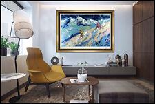 LeRoy NEIMAN Large Original Color Serigraph Snow Skiing Downers Signed Artwork
