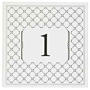 """Table Numbers Cards 1-12 """"Diamonds"""" Double Sided Laminated 5"""" x 5"""" Banquet Party"""