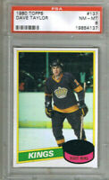 (1.CARD) DAVE TAYLOR 1980-81 TOPPS #137 GRADED PSA (8)