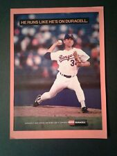 1992 Nolan Ryan Texas Rangers MLB Baseball Duracell Batteries Sports Trade AD