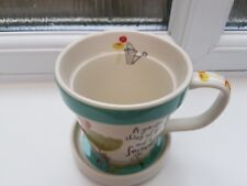 """Johnson Bros Born To Shop Mug and Coaster """" A Garden is a Thing of Beauty ....."""