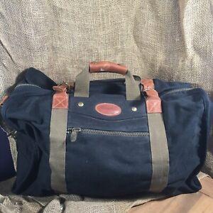 Dakota Tumi Canvas Leather Duffle Duffel Bag Travel Overnight Weekender Black