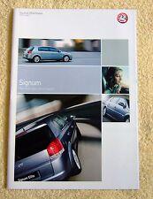 Vauxhall Signum range 2004 models, Elite, Design & Elegance, 3.2-V6, 2.2-16v ect