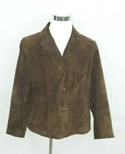 Women's LG cocoa brown suede leather jacket CANDA Collection at C & A new MS218