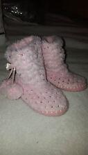 •Chausson/pantoufle rose sequin pompoms chaud hiver 24 bébé fille girly•
