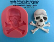 Large Skull Silicone Mould Make Cake Toppers Gum Paste Cake Decorating