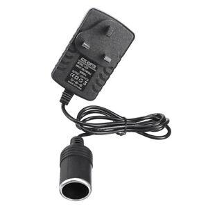 240V Mains Plug to 12V Socket Adapter Car Cigarettes LED Lighter Power Converter