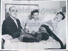1955 Polio Stricken Woman With Chest Respirator Edinburg Illinois Press Photo