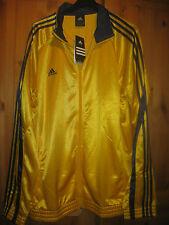 Neue sportliche ADIDAS Herren Trainingsjacke Gr.L  gelb-dunkelblau clima cool