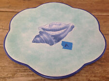 Este Ce Italy for Exposures 1997 Shell Dinner Plate #A Scallop Sea Conch Green