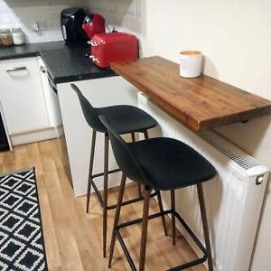 Rustic Breakfast Bar / 30cm Depth Kitchen Shelf Cafe Table / Coffee Pub Bistro