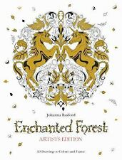 Enchanted Forest Artist's Edition : 20 Drawings to Color and Frame by Johanna Ba