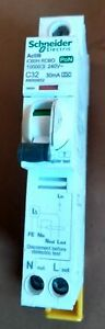 Schneider Acti 9 PON iC60H RCBO 30mA 32A, 20A, 10A,  Type C  10K ! Live Tested !