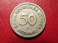 BRD 50 Pfennig 1950 G SS - Fehlprägung BANK DEUTSCHER Länder