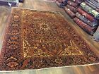 Sale S.Antique Genuine Hand Knotted Vintage Heriz  Serapi Area Rug Carpet 8x11ft