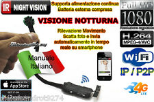 VideoCamera Spia WIFI MOTION DETECTION TELECAMERA MICRO NOTTURNA MICROCAMERA IR