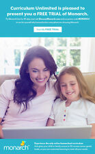 Try 30 day FREE TRIAL of Monarch Homeschool Curriculum for .01, 3rd-12