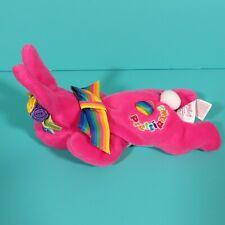 Vintage Lisa Frank Prettipaws Pink Bunny Rabbit Bean Bag Plush Fantastic Beans