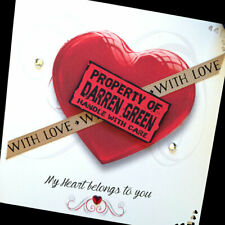 "Hand-made personalised ""My heart belongs to you ' Valentine Card"