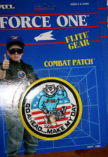 "ERTL Flite Gear Combat Patch NIB - F14 Tomcat ""Go Ahead... Make My Day"""