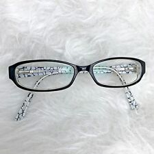 Richard Taylor Cypress Black White Eyeglass Frames Yellow Shimmer Moon 52-15