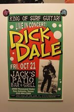 DICK DALE San Antonio TX (2005) CONCERT POSTER surf link wray the ventures