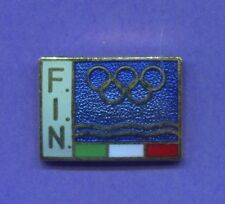 NATIONAL OLYMPIC COMMITTEE PIN ITALY SWIMMING PIN FIN NOC PIN