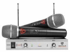 Rockville RWM1202VH VHF Wireless Dual HandHeld Microphone System/Metal Receiver