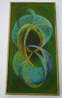 """HIROKO SIGNED 1960'S ABSTRACT PAINTING JAPAN EXPRESSIONISM CUBISM MODERNISM 40"""""""