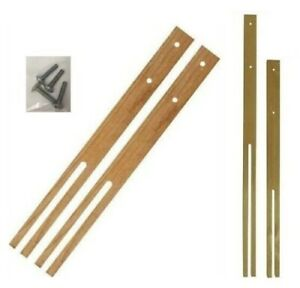 Large Wooden Headboard Struts Bed Legs Slotted & Pre-Drilled Screw 61cm / 76cm