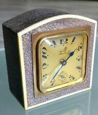 Horloge pendule art deco gainée de Galuchat Duverdrey et Bloquel / Bayard.