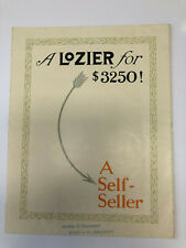 LOZIER LIGHT SIX ORIGINAL SALES BROCHURE - EXTREMELY RARE