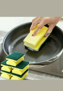 1 or 2  Sponge Cleaning Dish Washing Catering Scourer Scouring Pad-Kitchen