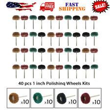 40pcs 25mm Abrasive Buffing Pad Polishing Brush Wheel for Rotary Tool Kits US