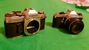 Vintage Canon AE-1 and Pentax ME Super Cameras - Please Read Description