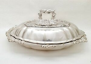 Beautiful Antique Silver Plated Tureen/Serving Dish by Martin Hall & Co.Ltd