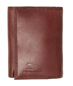 MORUCHA Mens RFID Blocking Tall Genuine Cow Nappa Leather Billfold Wallet M30