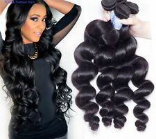 100%Brazilian Loose Wave 4Bundles 200g Unprocessed remy Human Hair  weave weft