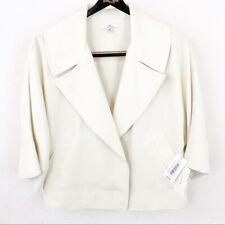Halston Womens White Waist Blazer Jacket Size Medium - NWT