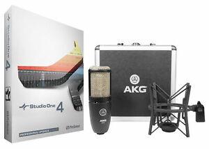 Presonus Studio One 4 Pro Upgrade from Artist/Producer+AKG Mic+ShockMount+Case