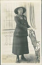 'Hannah' Young Lady Boots Hat Skirt Jacket Lapels Cane Chair  RL.507