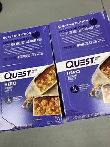 2 boxes Quest Nutrition Hero Protein Bar, Blueberry Cobbler, 10 Count exp 9/21